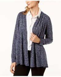Karen Scott - Petite Space-dyed Open-front Cardigan, Created For Macy's - Lyst
