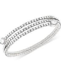 Swarovski - Twisty Crystal Pear-shaped Bangle Bracelet - Lyst