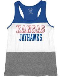 Blue 84 - Kansas Jayhawks Racerback Panel Tank Top - Lyst