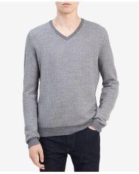 CALVIN KLEIN 205W39NYC - Men's Fancy Chevron Sweater - Lyst