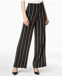 Nine West - Striped Wide-leg Pants - Lyst
