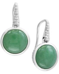 Effy Collection - Jade (12mm) Drop Earrings In Sterling Silver - Lyst