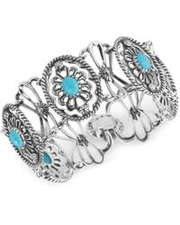 Carolyn Pollack - Turquoise Link Bracelet (6-2/3 Ct. T.w.) In Sterling Silver - Lyst