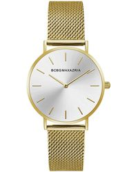 BCBGMAXAZRIA - Bcbg Maxazria Ladies Goldtone Mesh Bracelet With Goldtone Dial, 36mm - Lyst