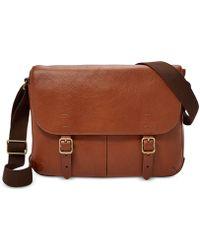 Fossil - Men's Buckner Small Leather Commuter Bag - Lyst