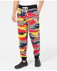 True Religion - Colorful Camo Jogger Pants - Lyst