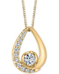 """Macy's - Diamond 18"""" Pendant Necklace (1/4 Ct. T.w.) In 14k White Gold Or 14k Gold - Lyst"""