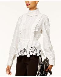 INC International Concepts | Lace Peplum Top | Lyst