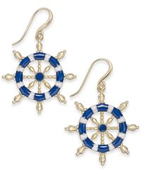 Charter Club - Gold-tone Nautical Drop Earrings, Created For Macy's - Lyst