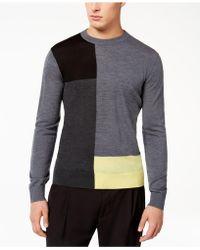 Armani Exchange | Men's Colorblocked Merino Wool Sweater | Lyst