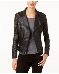 Marc New York | New York Felix Leather Knit-panel Moto Jacket | Lyst