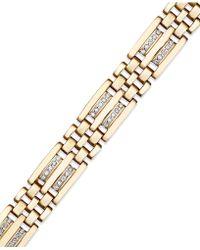 Macy's - Men's Diamond Bracelet In 10k Gold (1/4 Ct. T.w.) - Lyst