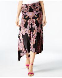 INC International Concepts | Petite Convertible Printed Maxi Skirt | Lyst