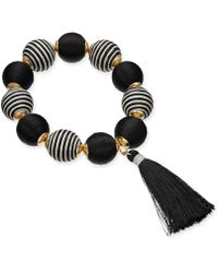 INC International Concepts - I.n.c. Gold-tone Wrapped Ball & Tassel Stretch Bracelet, Created For Macy's - Lyst