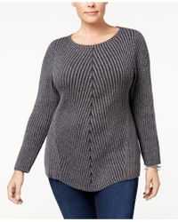 Style & Co. - Directional Ribbed-knit Jumper - Lyst