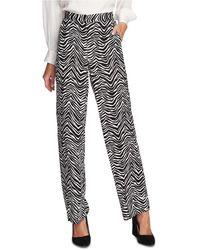 Vince Camuto - Zebra Peaks Printed Wide-leg Pants - Lyst