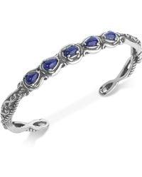 Carolyn Pollack - Lapis Lazuli Cuff Bracelet (2-1/4 Ct. T.w.) In Sterling Silver - Lyst