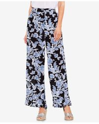 Vince Camuto - Printed Ruffled Wide-leg Pants - Lyst