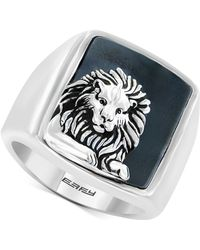 Effy Collection | Men's Hematite (19 X 15-1/2mm) Lion Ring In Sterling Silver | Lyst