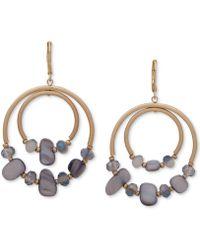 Lonna & Lilly - Gold-tone & Stone Orbital Drop Hoop Earrings - Lyst