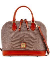 Dooney & Bourke - Lizard-Embossed Leather Satchel - Lyst