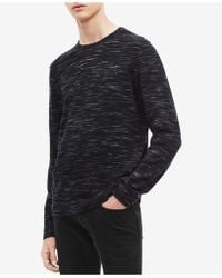 Calvin Klein - Space-dyed Crew Neck Sweater - Lyst