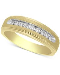 Macy's - Diamond Band (1/4 Ct. T.w.) In 10k Gold - Lyst