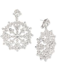 Givenchy   Silver-tone Crystal Drop Earrings   Lyst