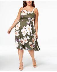 99ba2a6406f Soprano - Trendy Plus Size Floral-print Midi Dress - Lyst