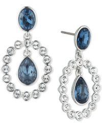 Givenchy - Crystal & Stone Orbital Drop Earrings - Lyst