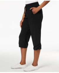 Style & Co. - Ruched Capri Jogger Pants, Created For Macy's - Lyst