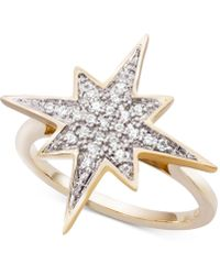 Wrapped in Love - Diamond Cluster Star Ring (1/6 Ct. T.w.) In 10k Gold - Lyst