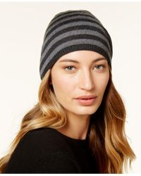 Eileen Fisher | Striped Pom-pom Beanie | Lyst