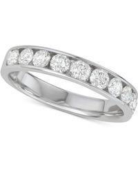 Macy's - Diamond Channel-set Wedding Band (1 Ct. T.w.) In 14k White Gold - Lyst
