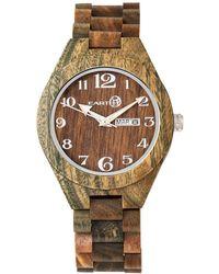 Earth Wood - Sapwood Wood Bracelet Watch W/date Olive 41mm - Lyst