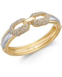 Charter Club - Two-tone Pavé Bangle Bracelet, Created For Macy's - Lyst