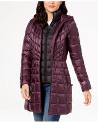 Bernardo - Hooded Packable Puffer Coat - Lyst
