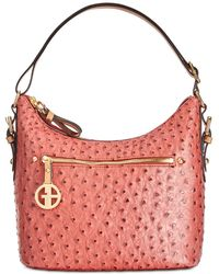Giani Bernini - Embossed Faux Ostrich Hobo, Created For Macy's - Lyst