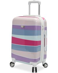 """Steve Madden - Closeout! Stripes 24"""" Expandable Hardside Spinner Suitcase - Lyst"""