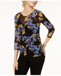 INC International Concepts - Petite Printed Illusion Top - Lyst
