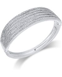 INC International Concepts - I.n.c. Silver-tone Pavé Layered Hinged Bangle Bracelet, Created For Macy's - Lyst