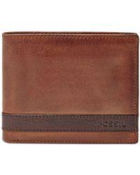 Fossil - Quinn Bifold With Flip Id Wallet - Lyst