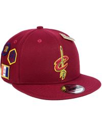 buy popular 904a0 01796 KTZ Cleveland Cavaliers Bred Hookup 9Fifty Snapback Cap in Red for Men -  Lyst