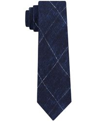Michael Kors - Contrast Chalk Grid Slim Silk Tie - Lyst