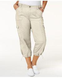 Style & Co. - Plus Size Capri Cargo Pants - Lyst
