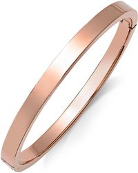 Macy's - Polished Smooth Bangle Bracelet In Metallic Yellow Ion-plated Stainless Steel - Lyst