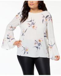 Soprano - Trendy Plus Size Bell-sleeve Blouse - Lyst