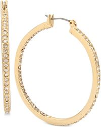 Kenneth Cole - Pavé Hoop Earrings - Lyst