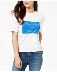 Calvin Klein - Cotton Metallic Logo T-shirt - Lyst
