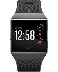 Fitbit - Unisex Ionic Smoke Grey Elastomer Strap Smart Watch 35mmx32mm - Lyst